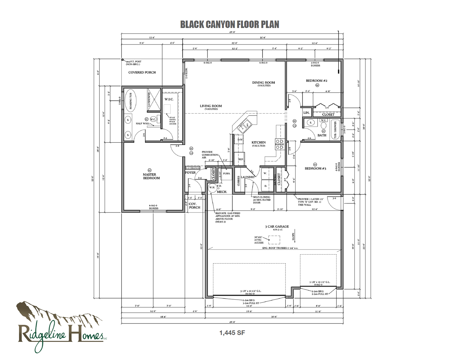 Black Canyon Home Model Floor Plan