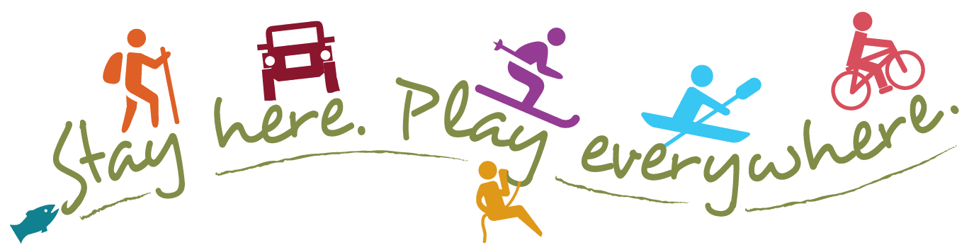"Montrose Motto ""Stay Here, Play Everywhere"" logo"